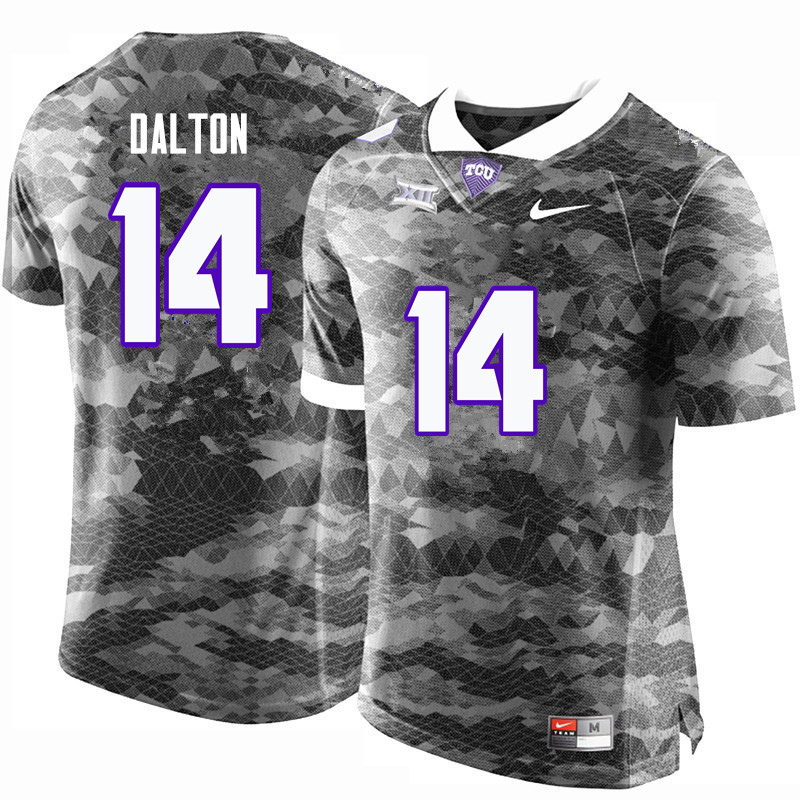 Men #14 Andy Dalton TCU Horned Frogs College Football Jerseys-Gray