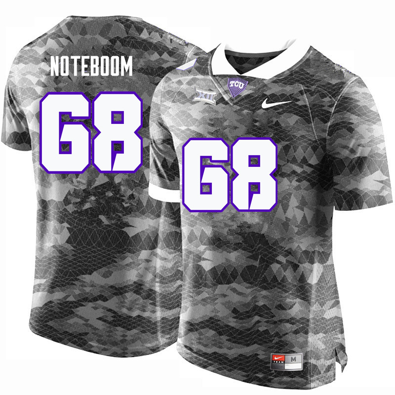 Men #68 Joseph Noteboom TCU Horned Frogs College Football Jerseys-Gray