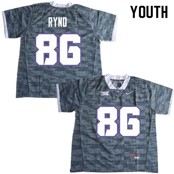 Youth #86 Walker Rynd TCU Horned Frogs College Football Jerseys Sale-Gray